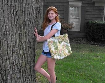 "End of Season SALE!  Handmade  ""Cottage Garden"" Handmade Tote Bag"