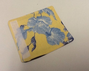 Yellow and Blue Floral Luggage Handle Wrap