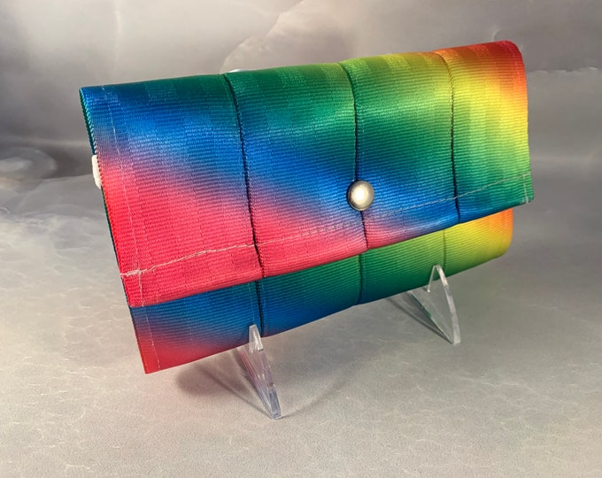 """The Brand New """"Bailey"""" Seat Belt Wallet in Fluorescent Rainbow from FiberTime!"""