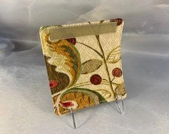 Beige Red Brown Floral Luggage Handle Wrap