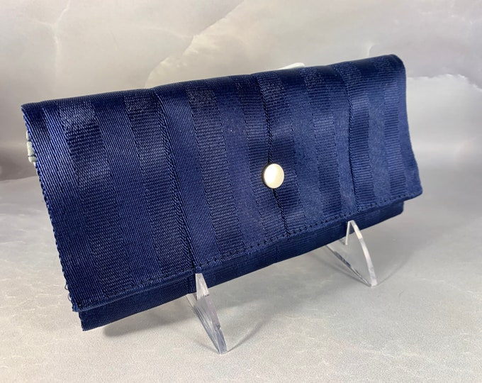 """The Brand New """"Bailey"""" Seat Belt Wallet In Navy from FiberTime!"""