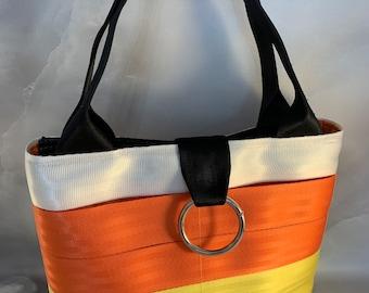 "New!  The ""Candi Corn"" Seat Belt Bag/Tote"
