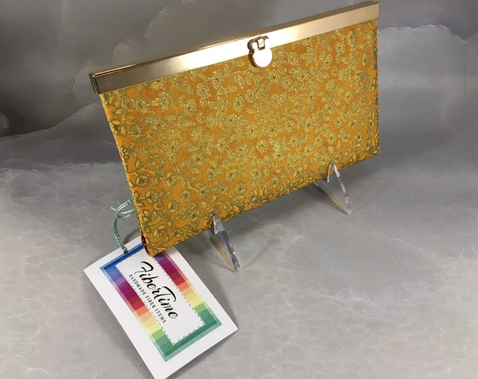 Gold Glitter and Burgundy Floral Diva Wallet