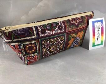 Winery Tiles Makeup Bag