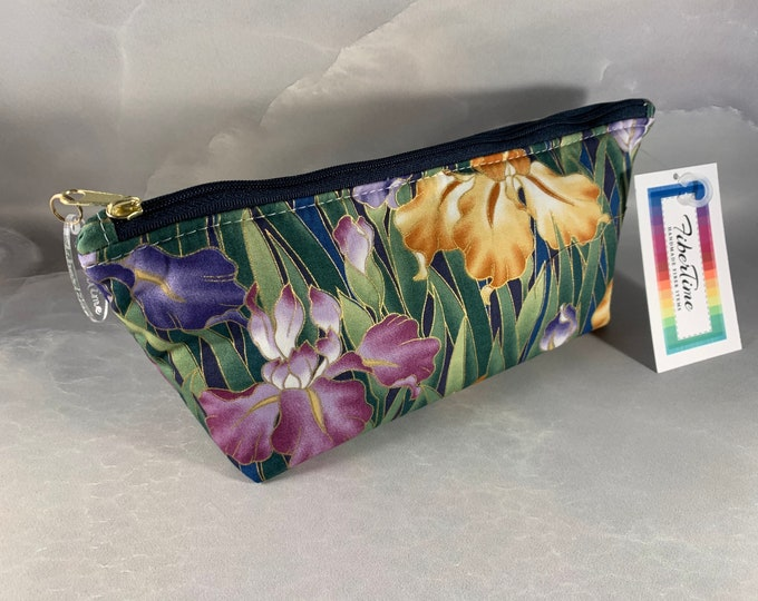 Colorful Iris Triangle Pouch