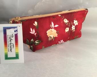 Golden Roses Makeup Bag