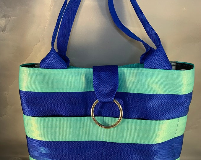 """The """"Melanie"""" Color Combination Handcrafted Seat Belt Bag/Tote"""