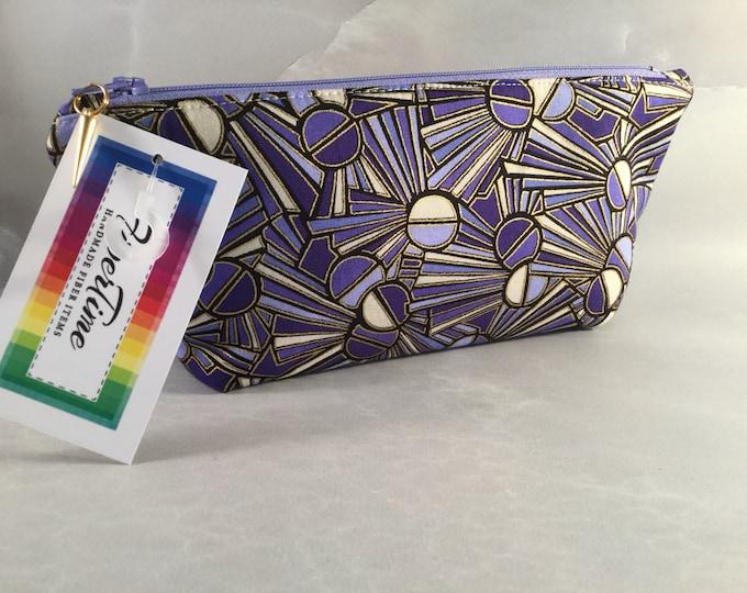 Periwinkle Sunburst Makeup Bag