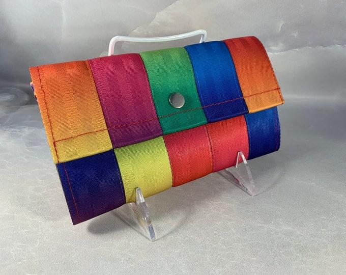 "The Brand New ""Bailey"" Seat Belt Wallet in Matte Rainbow FiberTime!"