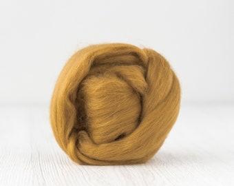 light brown or white wool roving