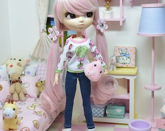 Pullip Outfit *** Heart Tree*** jeans DOL189 FTWR Handmade