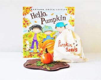 Pumpkin Book Play Pack - Make Reading Fun - Homeschool - Educational Toy - Halloween Fall