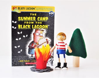 Summer Camp Black Lagoon - Book Play Pack - Back To School - Educational Toys - Home School