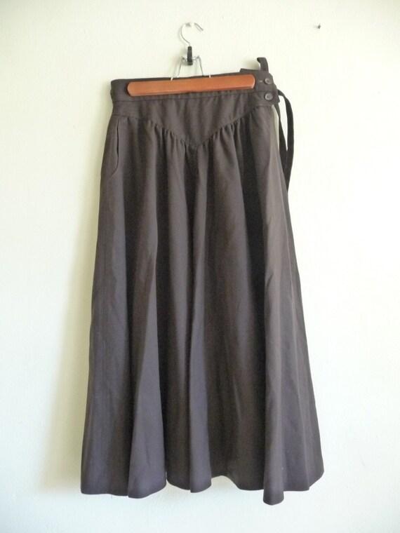 chocolate brown high waist maxi skirt