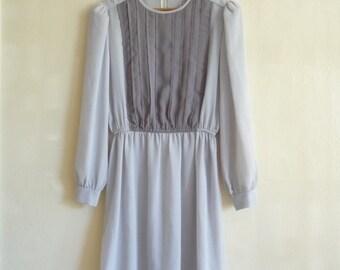 gray color block mini dress, small xsmall