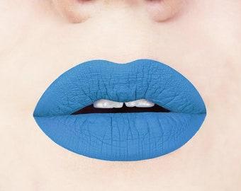 Azure Blue Liquid Lipstick | bright blue lipstick, matte lipstick, blue makeup, vegan, cruelty-free, cosmetics, vegan liquid lipstick, blue