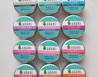 12 Solid Perfume Samples - Women's Solid Perfume, Mini Size, Sample Pack, Women's Gift Idea, Vegan Perfume, Cruelty-free, Travel Perfume