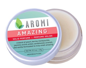 Amazing solid perfume - women's perfume, solid fragrance, cruelty-free fragrance, Mother's Day Gift, travel perfume, vegan perfume