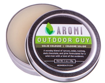 Outdoor Guy Solid Cologne, Men's Fragrance, Gift for Him, travel cologne, Woodsy, Vegan Cologne, Beard Wax, Balm, Salve, Fathers Day Gift