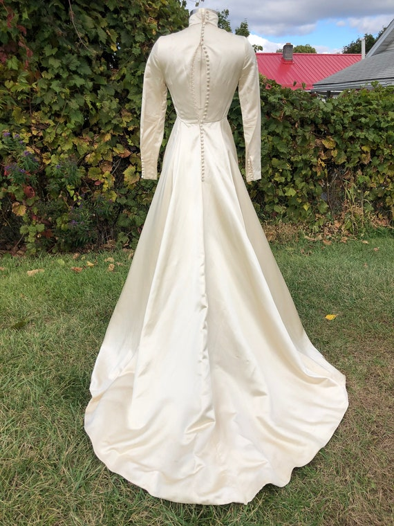 1960's Ivory wedding gown