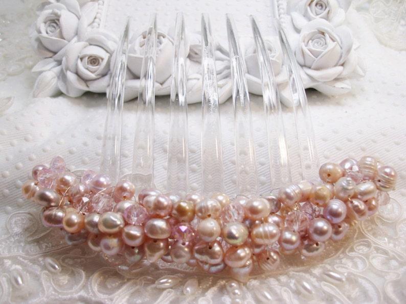 6 Clear Hair Combs Acrylic Wedding Bridal Prom