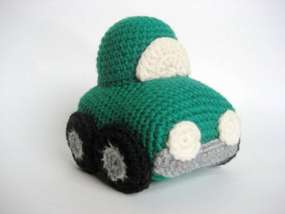 Crochet Car Toy Pattern Etsy
