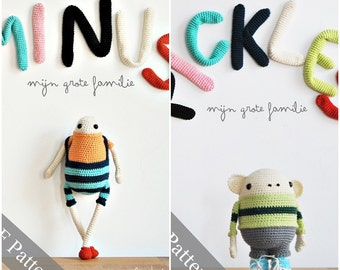 Minus & PIckles amigurumi pattern - PDF crochet E-book
