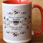 Sampler Mug : Heartstring Samplery