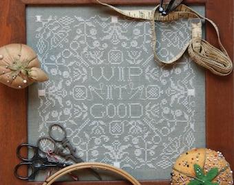 WIP it Good : Cross Stitch Pattern by Heartstring Samplery