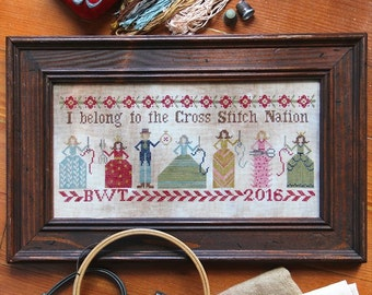 Cross Stitch Nation : Cross Stitch Pattern by Heartstring Samplery
