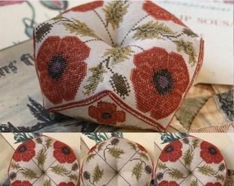 Flanders Fields Biscornu : Cross Stitch Pattern by Heartstring Samplery