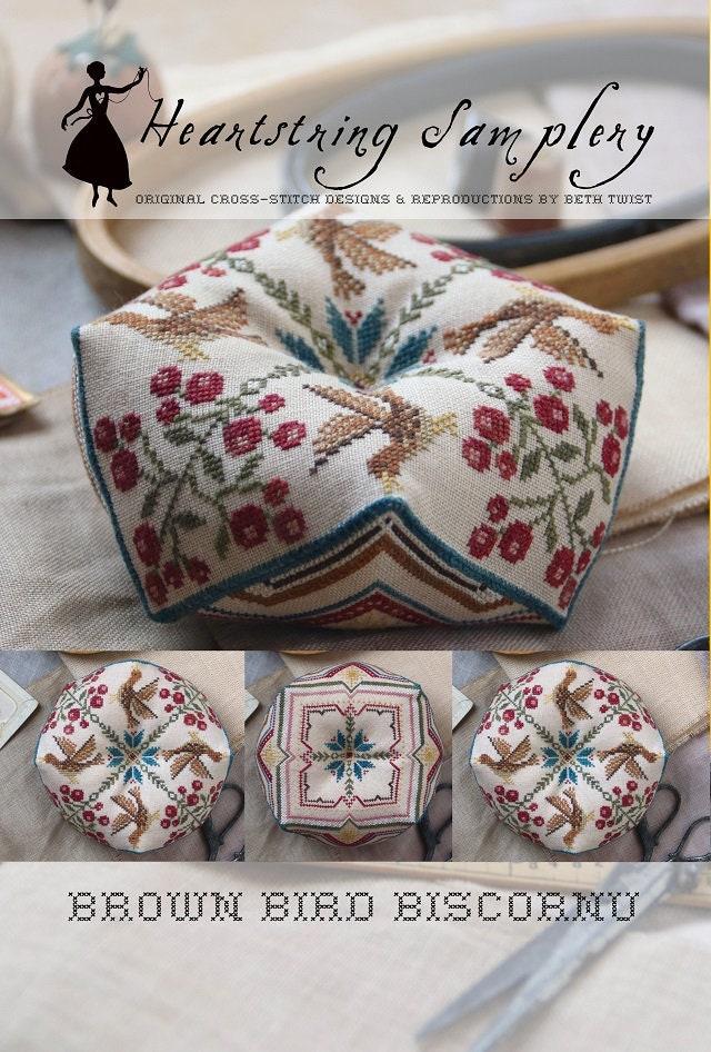 Brown Agate Crocheted Biscornu English version