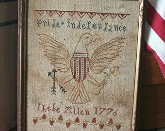American Eagle : Cross Stitch Pattern by Heartstring Samplery