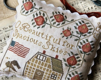 For Spacious Skies : Cross Stitch Pattern by Heartstring Samplery