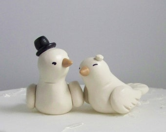 Custom Love Bird Wedding Cake Topper Birds - High Fashion Decor Small - Colors of Choice