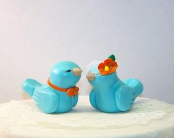 Tropical Bird Wedding Cake Topper Wedding/Home Decor - Custom Colors of Choice