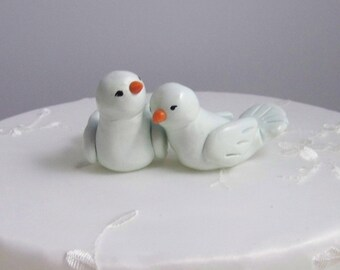 Wedding Cake Topper Custom Love Birds - Cake Topper - Simple and Elegant - Color(s) of Choice