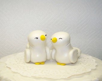 Cake Topper - Home/Wedding Decor - Choice of Colors - Fully Customizable - Shown in White/Ivory and Yellow