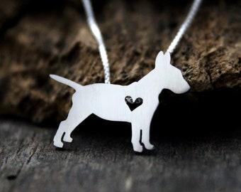 Bull Terrier Jewelry Sterling Silver Handmade Bull Terrier Key Ring  BU62X-KRE
