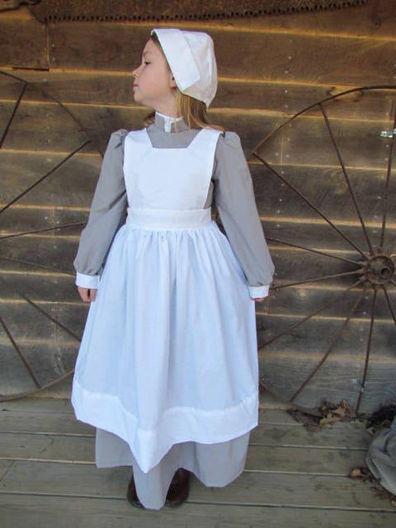 Williamsburg Historisch Kostuum Oude Ouderwetse Grijze Etsy