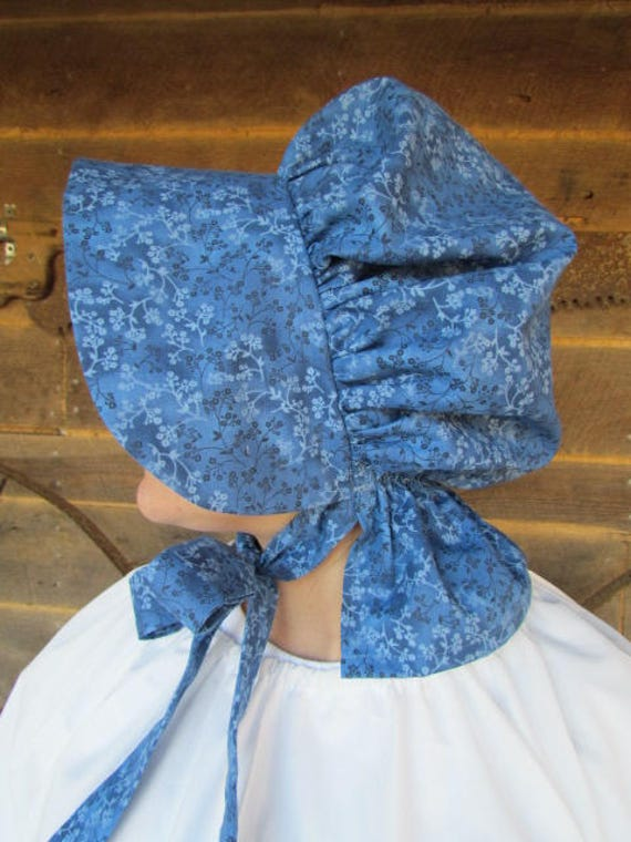 Old Fashioned Colonial Laura Ingalls 1800s Little House On The Prairie  Royal Blue Pioneer Hat  Child Size by Etsy