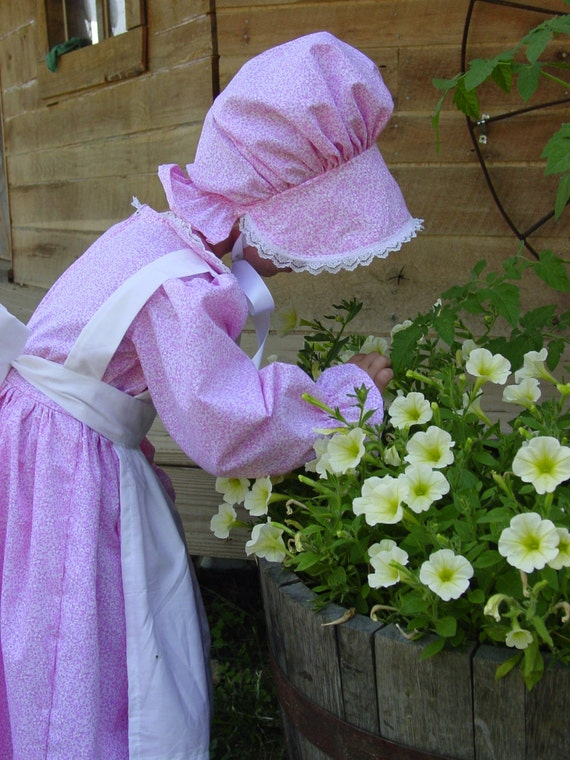 We Have Costumes Modest Quality Homemade Historical Costumes Pink Pioneer  Girl Sizes Up To 14 by Etsy