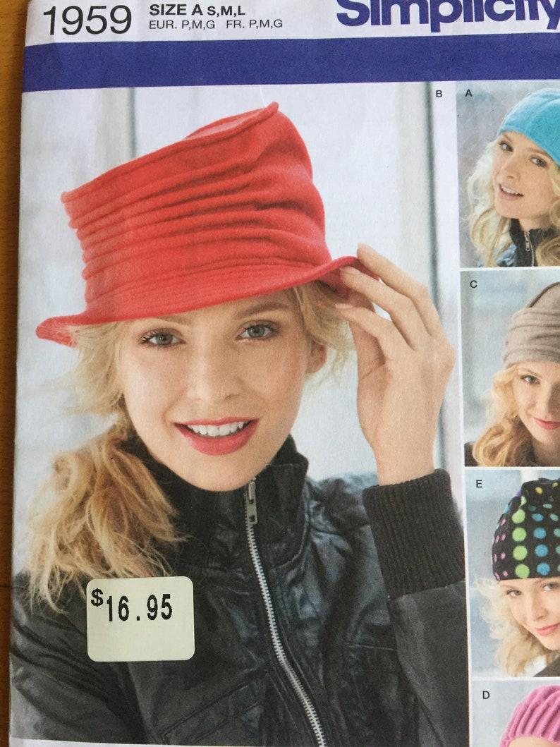 068e326934b Simplicity1959 sewing pattern HATS felted polar fleece sew
