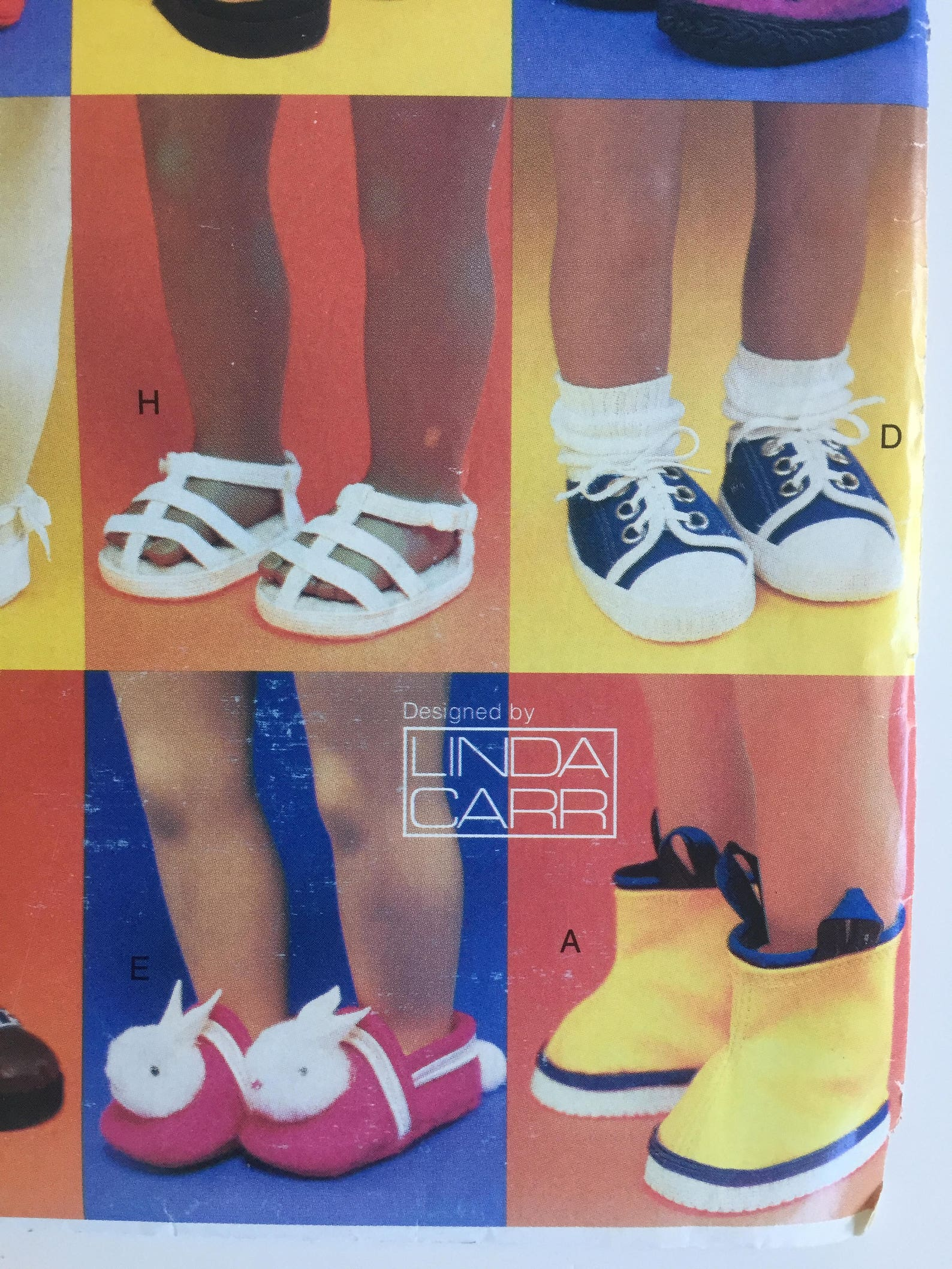 vogue craft 7329/728 sewing pattern 18 inch doll footwear linda carr designs sandals, slippers, boots, ballet, clogs girl americ