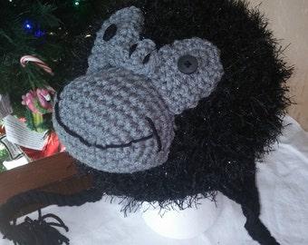 Crochet Gorilla Hat