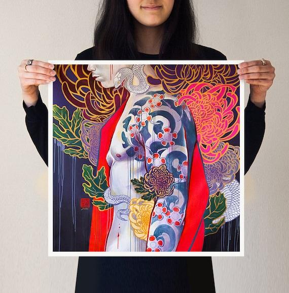 5 Thieves unsigned JUURI Japanese Kabuki Mural Canvas Acrylic Print Phone Case
