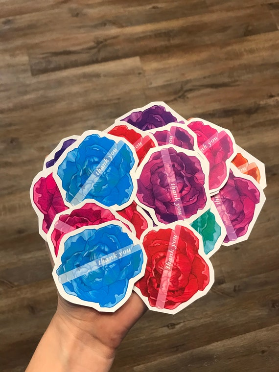 Small Multicolor Peony Thank You Notes