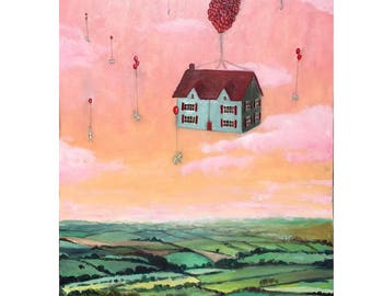 High Quality Giclee print of Floating Free painting