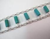 Turquoise Tubes and Silve...