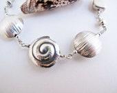 Silver Bracelet with Swir...